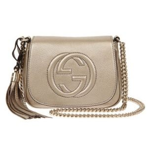 Gucci Soho Chain Crossbody Bag in Gold